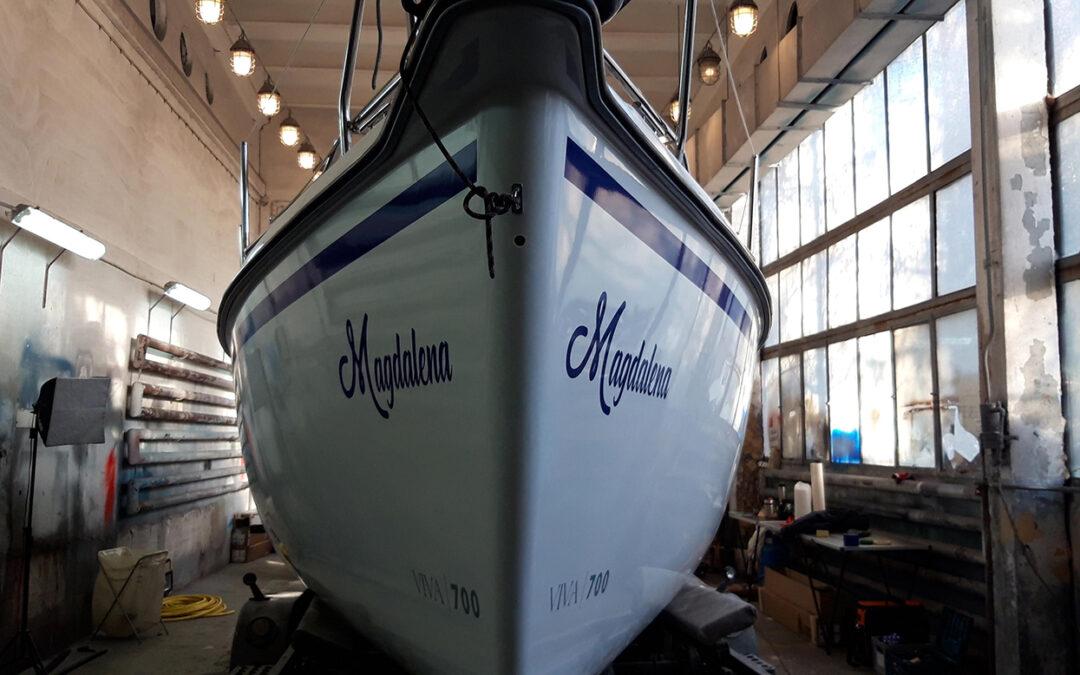 Oklejenie i detailing jachtu Sasanka Viva 700